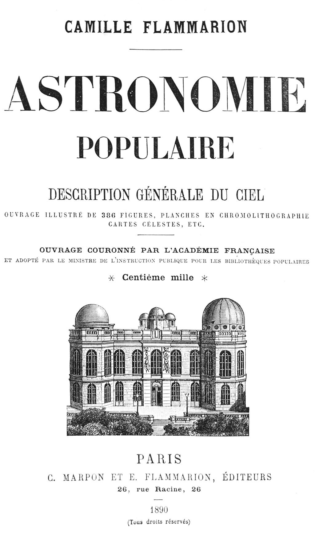 Astronomie Populaire, Camille Flammarion, 1890